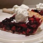 Maman's Fresh Strawberry Rhubarb Pie - The classic flavors of strawberry and rhubarb combine in this easy no-bake pie with a graham cracker crust.