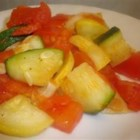 Vegetable Medley II - Tomatoes, mushrooms, yellow squash and zucchini sauteed with garlic pepper.  A quick and easy side dish or main meal!
