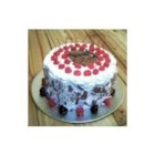 Black Forest Chocolate Cake - The recipe for this well loved cake has been altered to reduce the fat content. It uses fat free sweetened condensed milk and an oil substitute.  It is not frosted, unlike the traditional cake, but does have a cherry topping.