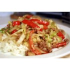 Black Pepper Beef and Cabbage Stir Fry - A very simple Chinese stir-fry dish which is fabulous in taste. I saw my husband going for two additional servings of it and I had to remind him to leave some for the rest of the family! Serve with hot steamed rice.