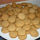 Peanut Butter Cookies I - A traditional cookie made with peanut butter and honey. This is decorated with the classic criss cross.