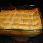 Easy As Chicken Pot Pie - A frozen puff pastry helps turn some frozen vegetables and chicken into a delicious pot pie.