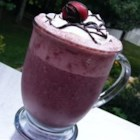 Chocolate-Cherry-Banana Breakfast Smoothie - Even if you don't think you have time for breakfast, my Chocolate-Cherry-Banana Smoothie can be blended in just a few minutes. Pour it into a travel mug and enjoy it as you commute.