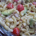 Sarah's Pasta Salad - This is something I threw together one day. Prepare the veggies while the pasta cooks and you're done in 10 minutes. I use different kinds of tomatoes, depending on what I have on hand. Cherry or grape tomatoes are easy to just throw in - no cutting required.