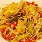 Easy Vegetarian Pasta - Tangy balsamic vinegar tossed with pasta and vegetables make this vegetarian pasta tantalize your taste buds!