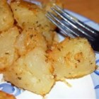 Bada Bing Bada Banged Potatoes - New potatoes are par-boiled, tossed with Parmesan cheese and lots of dried herbs, and then baked until browned and crispy.