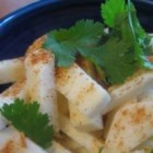Jicama Salad with Cilantro and Lime - A crisp and refreshing jicama salad for summer or anytime, this salad goes really well with a Mexican-style dish.