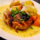 Honey Baked Chicken II - Curried honey mustard imparts a golden hue to tender baked chicken.