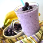 Razzy Blue Smoothie - This naturally sweet and creamy, frosty cold smoothie packs a lot of flavor and a nutritious punch.