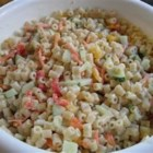 Best Macaroni Salad - Very easy and delicious!  I am constantly asked to bring this salad to parties and picnics.  The cheese and ham are key additions to an old favorite.