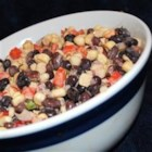 California Bean Dip - This eye-pleasing combination of white corn, black beans and Mexican-style seasonings is irresistible! Serve it with corn chips.