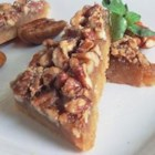 Maple Pecan Shortbread Squares - Real maple syrup flavors the sticky pecan topping of these delicious shortbread squares.