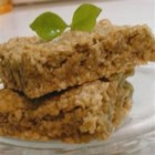 Apple Oatmeal Bar Cookies - This quick, egg-free, apple, oat, and nut bar cookie recipe is a great treat -- after dinner, as a snack, or even for breakfast!