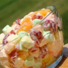 Strawberry Ambrosia - This is a simple, tasty, and colorful variation of a classic ambrosia salad. My son loves it; he keeps asking me when I'm going to make some more of that 'marshmallow casserole'!