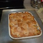Peach Cobbler I - Try using different varieties of peach and see if you find a favorite. Butter is melted in a large 9x13-inch casserole and the sliced, sugared peaches are arranged in the bottom. Sweet baking powder batter is spooned over the top, and the casserole is baked until the cobbler is bubbly and golden.