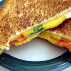 Spicy Grilled Cheese Sandwich - Grilled cheese with onions, tomatoes and jalapenos-- tastier than the original!