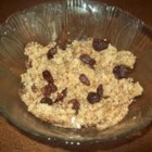 Breakfast Porridge - Oat bran, wheat bran, wheat germ, and flax seed mix with chopped prune and water for a quick and easy breakfast.