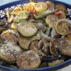 Smoky Grilled Vegetables - If you have a smoker, you'll like this one, especially if you've never grilled vegetables in it. The secret is cutting them in uniform sizes so that they all cook evenly, and keeping them moist with a delicious teriyaki sauce.