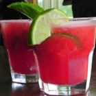 Watermelon Agua Fresca - This is a drink served throughout Mexico. It is made with several different fruits. This is a watermelon drink.