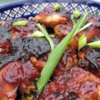 Caramelized Baked Chicken - Soy and ketchup, laced with honey and garlic, make for a potent sauce.  This chicken is ideal for appetizers or a main course.