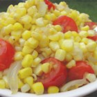 Daddy's Fried Corn and Onions - Combining my two favorites, fried onions and fresh corn, my husband came up with this very simple, delicious side dish.