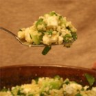 Couscous with a Kick! - Spicy, summery pasta salad made with cucumber, lemon, mint, basil, and jalapeno.