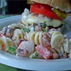 Seafood Pea-Asta Salad - Crabmeat and black-eyed peas join a party of fresh broccoli, bell peppers, tomatoes and green onions. Coat with a savory blend of mayonnaise and Italian-style salad dressing and give a lively toss with cooked pasta. Chill thoroughly and serve.