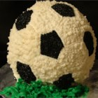 Soccer Ball Cake - Neat way to make a ball-shaped cake. Use your favorite flavor of cake mix.
