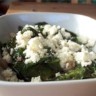 Wilted Spinach - Delicious wilted spinach with a simple Mediterranean dressing.