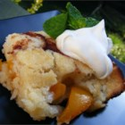 Easy Peach Cobbler - Quick cobbler with canned peaches -- ready in less than an hour.