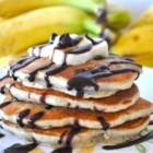 Chunky Monkey Pancakes - These chocolate and banana pancakes are a delicious breakfast treat.
