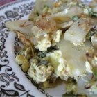 Irish Eggs - A hearty and homey potato, vegetable and egg scramble.