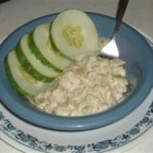 Creamy Buttered Cucumbers - A delicious mix of cream, onions, and cucumbers to warm the soul. Great with chicken! Substitute sweet heavy cream or plain yogurt for sour cream if you'd like.