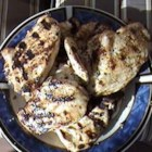 Creamy Chicken Breasts - Boneless, skinless chicken breasts are marinated in a combination of Italian and creamy salad dressings with a pinch of cayenne pepper. After an hour in the fridge, they're cooked on the grill to be enjoyed plain or in salads.