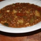 Lentil and Cactus Soup (Mom's Recipe) - An authentic soup from central Mexico combines tender lentils and potatoes with nopales (cactus).