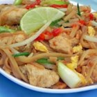 Pad Thai - This is a traditional Pad Thai recipe used by a friend's mother. It has a sauce of fish sauce, sugar, vinegar and red pepper.