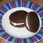 Whoopie Pies IV - These chocolate cake cookies feature a creamy vanilla filling.