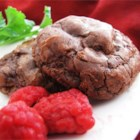 Chocolate Truffle Cookies - A very dark, rich chocolate cookie for the true chocoholic. This recipe uses relatively little flour, resulting in dense, fudge-like cookies.