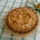 Best Ever Pie Crust - Some flour, vegetable shortening, water and a pinch of salt is all that 's needed to make this very flaky crust that will make your favorite pie even better than usual.
