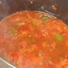 Italian Stewed Tomatoes - Tomatoes stewed with celery, onion, green pepper and basil.