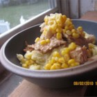 Ultimate Mashed Potatoes - Loaded with seasonings, cheese, and barbeque sauce, these mashed potatoes are a little weird, but entirely too good! I will occasionally add sweet corn for a bit of crunch.