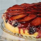 Plum Blueberry Upside Down Cake - Use fresh or frozen fruit in this stunning twist on the upside down cake.