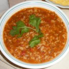 Oat Soup - Enjoy my familiar recipe. Delicious tomato and oats soup made with garlic and cilantro.