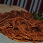 Spaghetti Al Amatraciana - A spicy Italian Pasta dish where you can vary the amount of red pepper to make this dish as spicy as you like it. Top with Parmesan cheese, if desired. Buon Appetito!