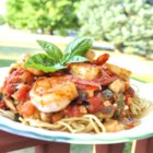 Linguine Pasta with Shrimp and Tomatoes - A sauce made from fresh tomatoes is the secret ingredient in this delicious shrimp pasta.