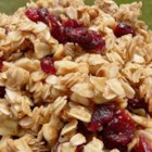 Stovetop Granola - A delicious quick and easy granola with almonds and dried cranberries that is made on the stovetop.