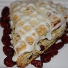 Cranberry Scones - A quick basic scone recipe with traditional holiday ingredients ... great treat for Christmas morning! Serve warm with butter and tea!