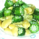 Sylvia's Butterbeans and Okra - This is a southern soul-food classic which is a snap to prepare. If okra turns you off, look elsewhere! The pickled pork gives it a great flavor so don't substitute regular ham.