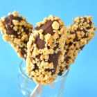 Monkey Tails - Chocolate-covered frozen bananas are a great summer treat. Ripe bananas have a wonderful creamy consistency when frozen, and the rich chocolate coating is delicious.