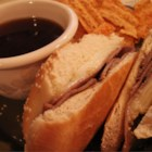 Easy French Dip Sandwiches - This sandwich made with sliced roast beef and provolone cheese is a crowd pleaser. The flavor is so rich, no one will know it only took 15 minutes to put together.